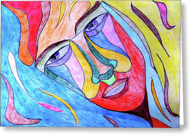 Selfless Greeting Card by Donna Blackhall