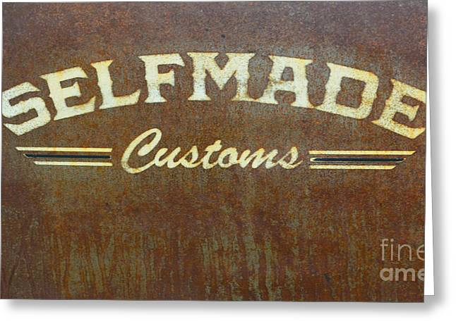 Rusted Cars Greeting Cards - Selfmade Customs Greeting Card by Luther   Fine Art