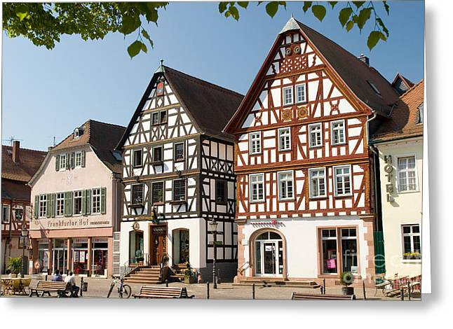 Timber Posts Greeting Cards - Seligenstadt, Germany Greeting Card by Andreas Pulwey