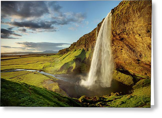 Seljalandsfoss Iceland Greeting Card by Peter OReilly
