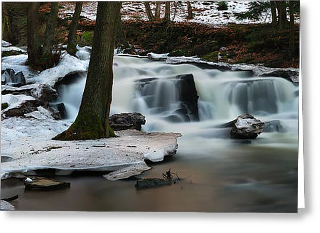 Deutschland Greeting Cards - Selke Wasserfall Greeting Card by Steffen Gierok