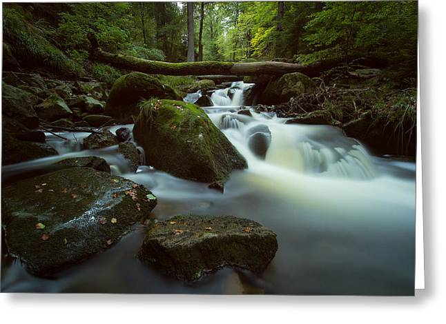 Wandern Greeting Cards - Ilsefalls Greeting Card by Andreas Levi