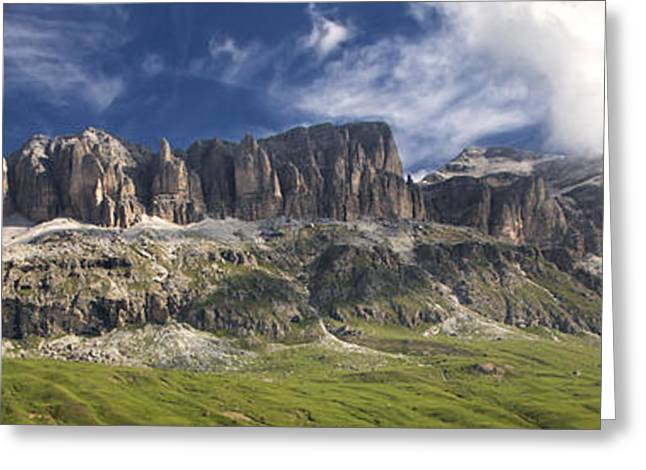 Europe Greeting Cards - Sella Panorama Greeting Card by Krys Bailey