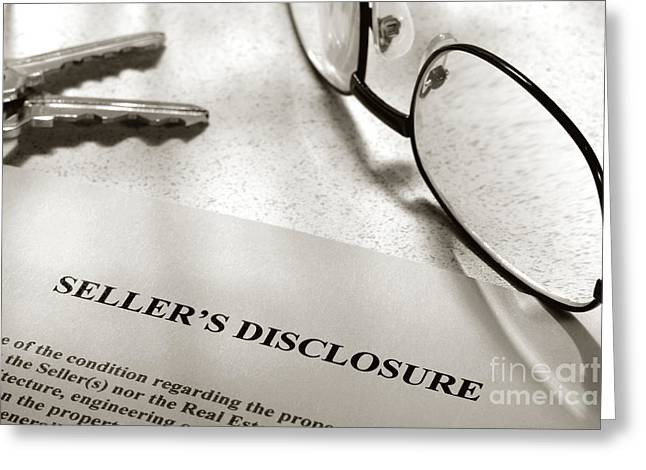 Owner Greeting Cards - Seller Property Disclosure Greeting Card by Olivier Le Queinec