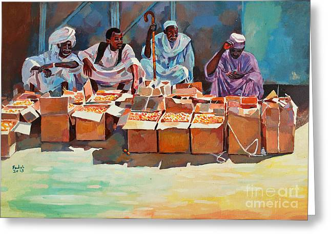 Mohamed Fadul Greeting Cards - Sellers Greeting Card by Mohamed Fadul