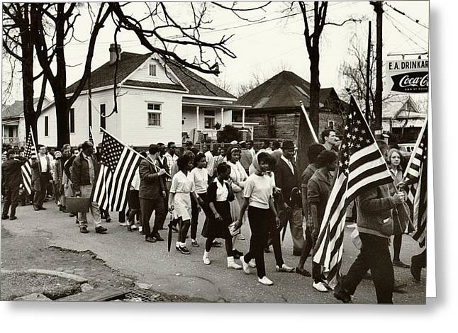 Best Sellers -  - 60s Greeting Cards - Selma to Montgomery Greeting Card by Benjamin Yeager