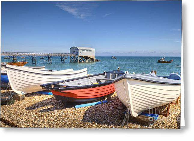Beach Scenery Greeting Cards - Selsey Bill West Sussex Greeting Card by Colin and Linda McKie