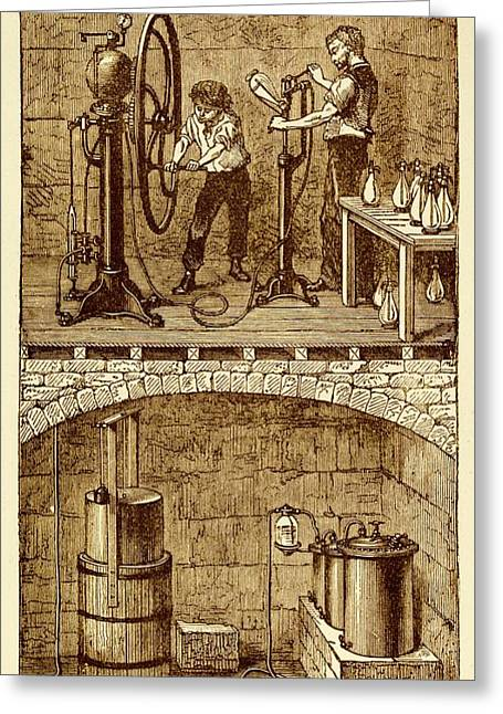 Selzer Water Manufactuary Greeting Card by David Parker