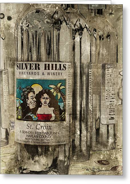 Silver Hills Winery Greeting Cards - Semi-Dry Greeting Card by Jeff Swanson
