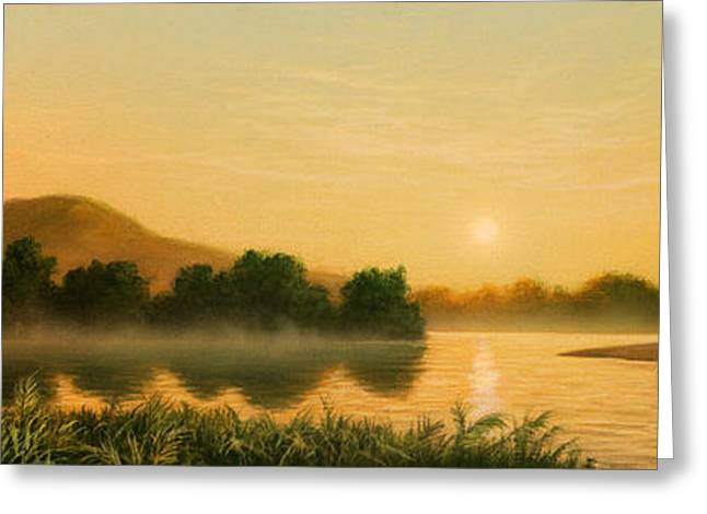 Seminole Sunset Greeting Card by Jerry LoFaro