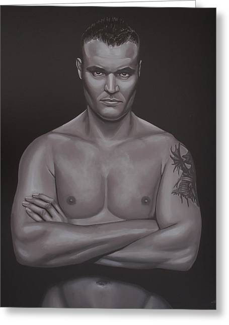 K-1 Fighter Greeting Cards - Semmy Schilt Greeting Card by Paul  Meijering