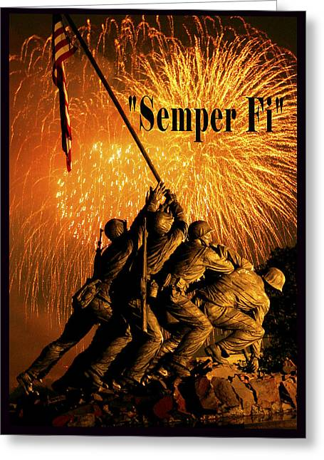 4th July Digital Art Greeting Cards - Semper Fi Greeting Card by Government Photographer