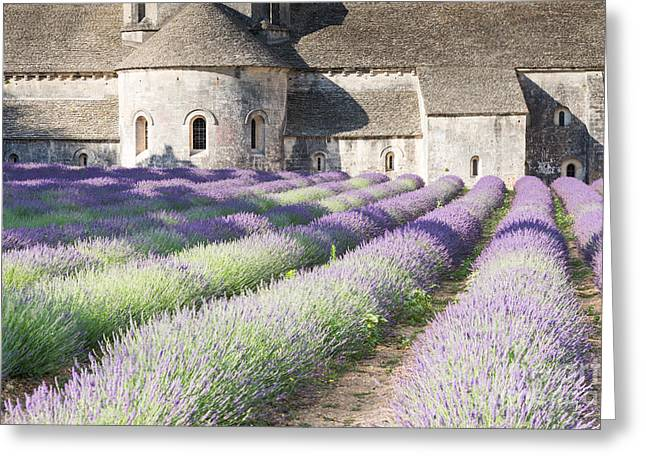 Azur Greeting Cards - Senanque abbey and its lavender field - Provence - France Greeting Card by Matteo Colombo