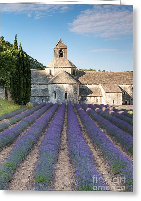 Southern France Greeting Cards - Senanque abbey and lavender fields - Provence - France Greeting Card by Matteo Colombo