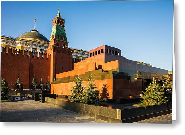 Senate Tower And Lenin's Mausoleum Greeting Card by Alexander Senin
