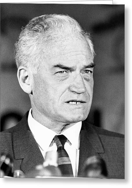 Republican Greeting Cards - Senator Barry Goldwater Greeting Card by Underwood Archives