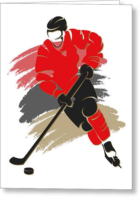 Hockey Greeting Cards - Senators Shadow Player2 Greeting Card by Joe Hamilton