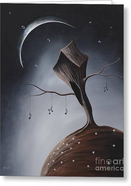 Fantasy Tree Art Print Greeting Cards - Send Me Your Love While I Sleep by Shawna Erback Greeting Card by Shawna Erback