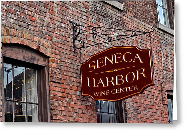 Entryway Greeting Cards - Seneca Harbor Wine Center Greeting Card by Frozen in Time Fine Art Photography