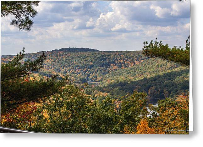 Seneca Valley Greeting Cards - Seneca Point Overlook Greeting Card by Darlene Bell