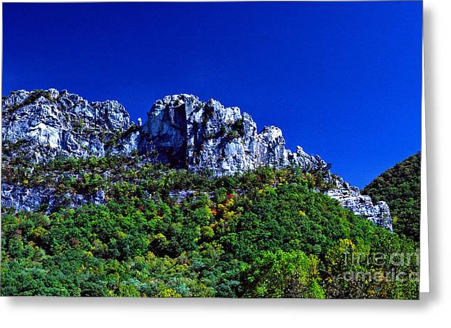 Pendleton County Greeting Cards - Seneca Rocks National Recreational Area Greeting Card by Thomas R Fletcher