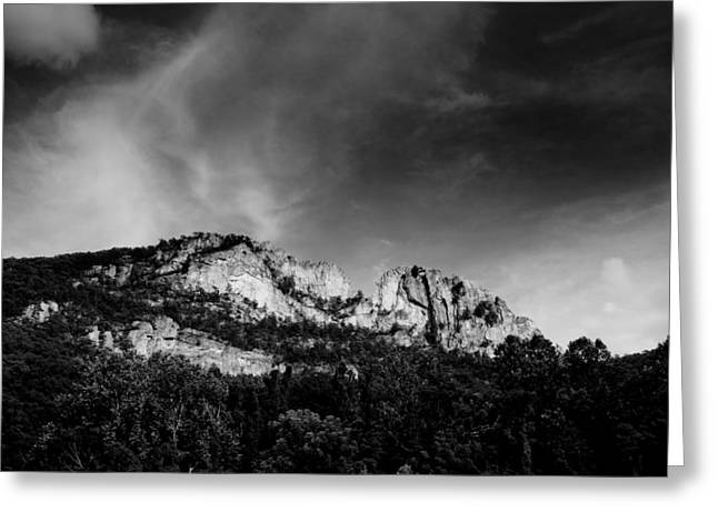 Crag Greeting Cards - Seneca Rocks Greeting Card by Shane Holsclaw