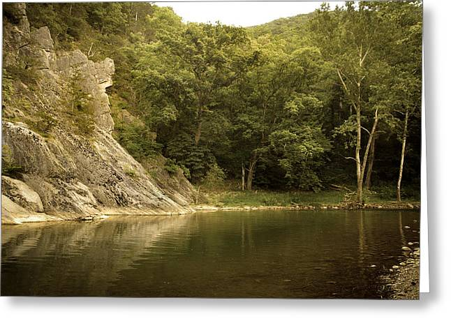 Seneca Greeting Cards - Seneca Rocks Swimming Hole Greeting Card by Shane Holsclaw