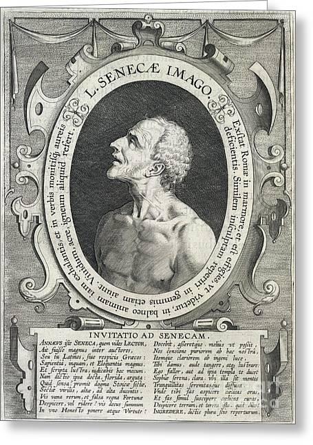 European Artwork Greeting Cards - Seneca, Roman Philosopher Greeting Card by British Library