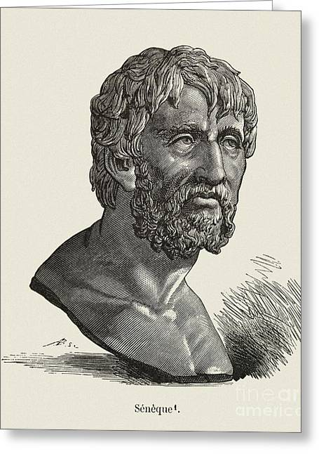 Orator Greeting Cards - Seneca The Elder, Roman Orator Greeting Card by Middle Temple Library