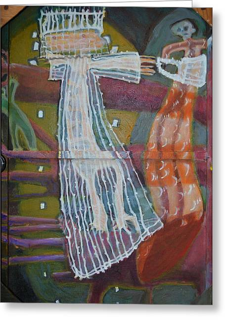 Abstract Purse Greeting Cards - Senior Looking For A Senorita Greeting Card by Nancy Mauerman