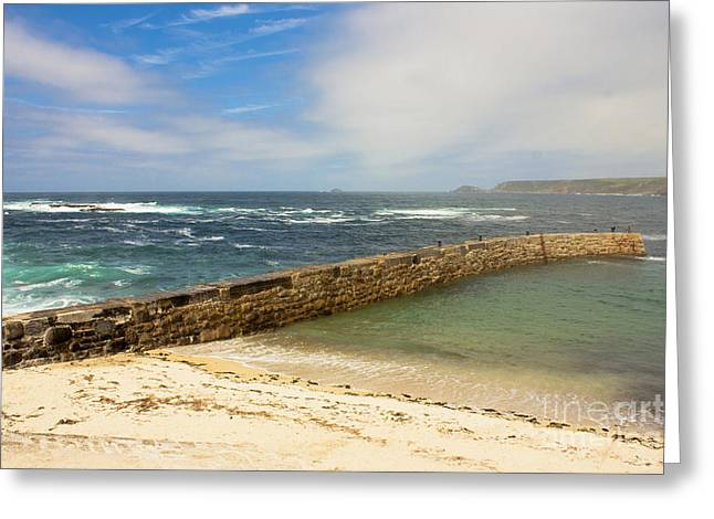Sennen Cove Greeting Cards - Sennen Cove Cornwall Greeting Card by Terri  Waters