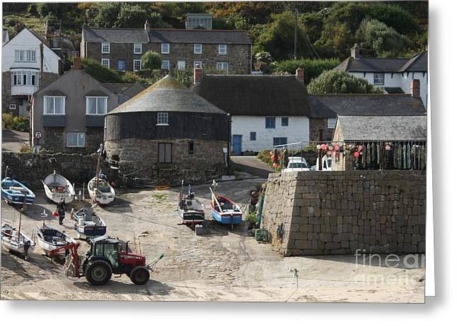 Habor Greeting Cards - Sennen Cove Greeting Card by Linsey Williams