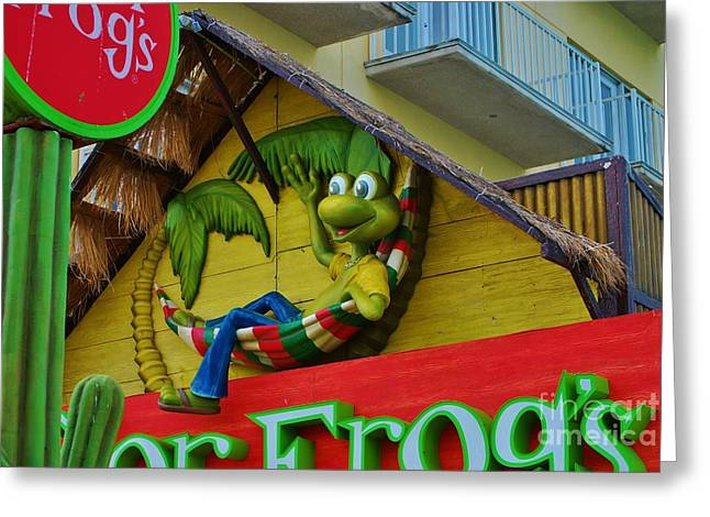 A Happy Senor Frog In Nassau Greeting Card by Bob Sample