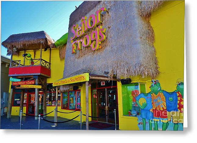Senor Frogs Myrtle Beach Store Front Greeting Card by Bob Sample