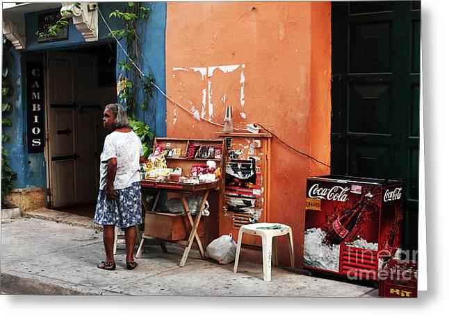 Senora de Cartagena Greeting Card by John Rizzuto