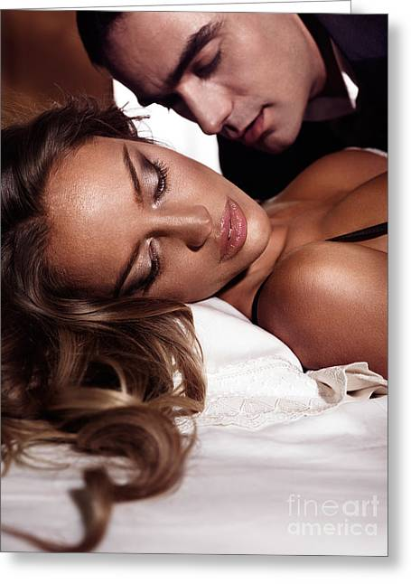 Sexy Couple Greeting Cards - Sensual artistic portrait of a couple Greeting Card by Oleksiy Maksymenko