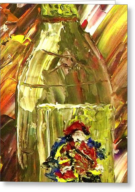 Pallet Knife Greeting Cards - Sensual Explosion Bottle 3 Greeting Card by Mark Moore