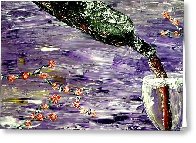 Pouring Wine Digital Art Greeting Cards - Sensual Moods  Greeting Card by Mark Moore