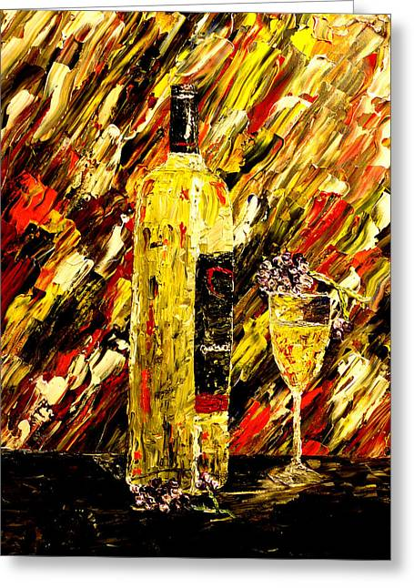 Wine Pouring Paintings Greeting Cards - Sensual Nights  Greeting Card by Mark Moore