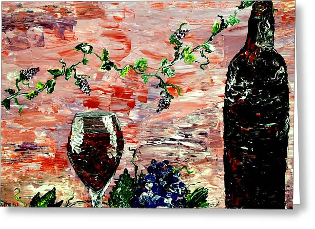 Wine Pouring Greeting Cards - Sensual Persuasion  Greeting Card by Mark Moore