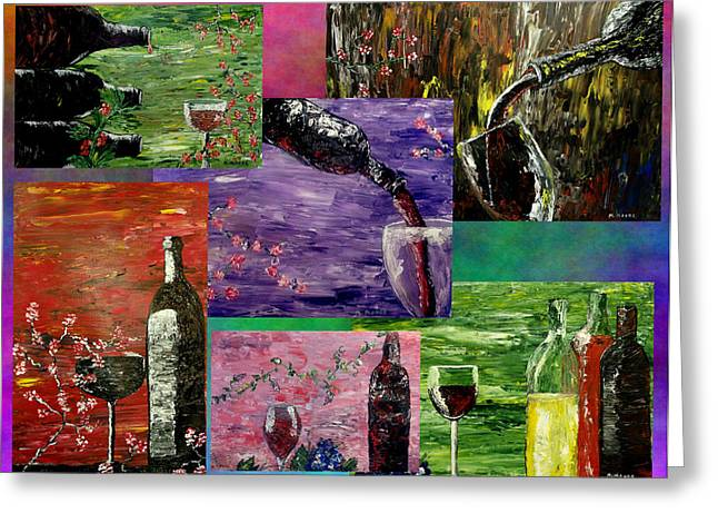 Sensual Wine  Greeting Card by Mark Moore