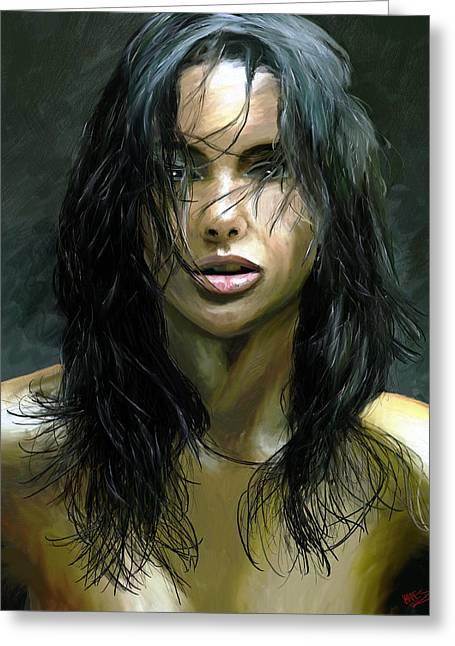 Male Portraits Digital Art Greeting Cards - Sensuality Greeting Card by James Shepherd