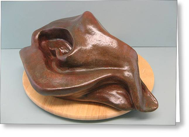 Fine Art Sculptures Sculptures Greeting Cards - Sensuality Greeting Card by Nili Tochner