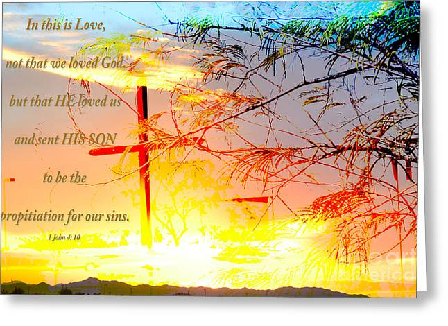 Jesus Cross Framed Prints Greeting Cards - Sent His Son Greeting Card by Beverly Guilliams