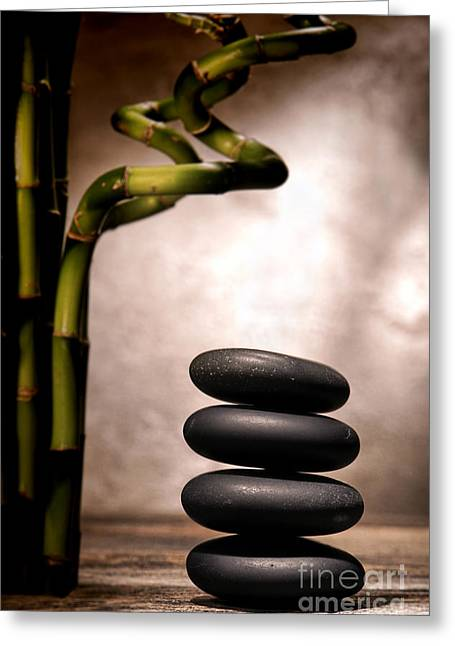 Stones Photographs Greeting Cards - Sentimental Cairn Greeting Card by Olivier Le Queinec