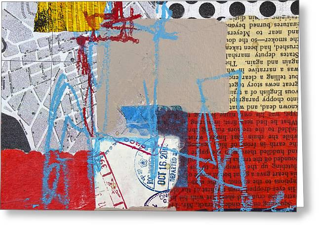 Puzzle Mixed Media Greeting Cards - Sentimental journey Greeting Card by Elena Nosyreva