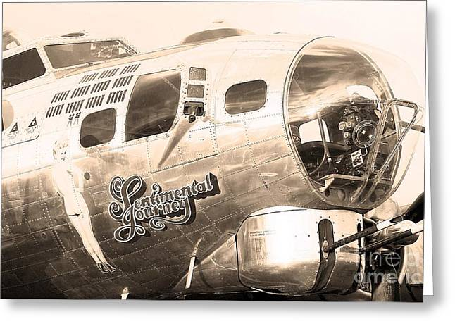 Military Airplanes Greeting Cards - Sentimental Journey Greeting Card by Steven Reed