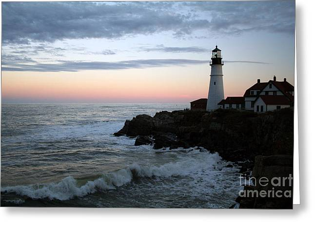 My Ocean Greeting Cards - Sentinel At Sunset Greeting Card by Linda  Jackson