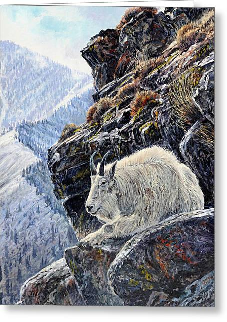 Best Sellers -  - Salmon Paintings Greeting Cards - Sentinel of the Canyon Greeting Card by Steve Spencer