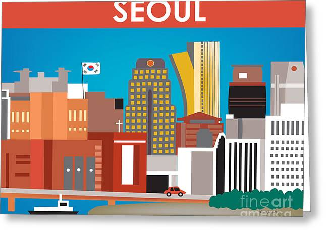 Seoul Greeting Cards - Seoul Greeting Card by Karen Young